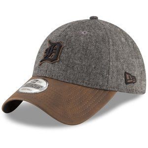 New Era Detroit Tigers Leather Tweed Strapback Hat